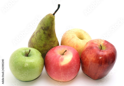 selection of apples.