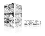Abstract design and typography background poster