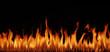 Leinwandbild Motiv Flammen Panorama