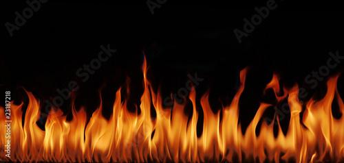 Foto op Aluminium Vlam Flammen Panorama