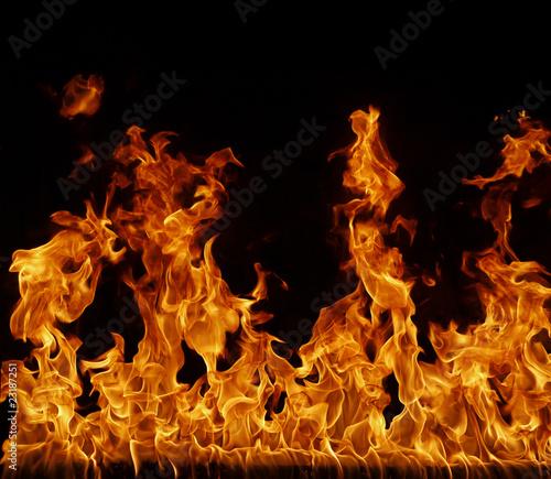 Foto op Aluminium Vlam Feuer, Flamme Hintergrund