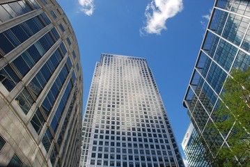 skyscrapers at Canary Wharf, London