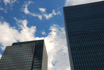 skyscrapers in Canary Wharf, London