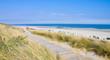 Leinwanddruck Bild - Idyllischer Tag an der Nordsee im Sommer