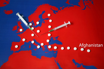 Drug trafficking - with title Afghanistan