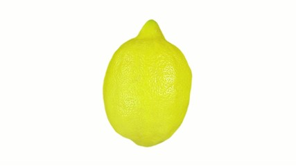 Lemon isolated on white. Lopable. Luma included.