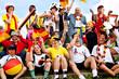 Fanjubel beim Fussball 8423