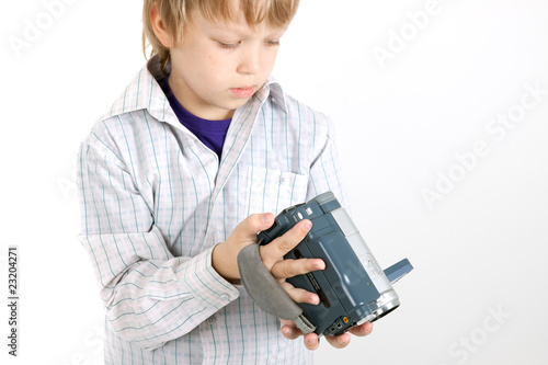 boy looking to camera