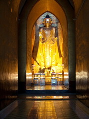 Myanmar, Bagan - Buddha inside of Pagoda nb.2