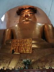 Myanmar, Bagan - Buddha inside of Pagoda