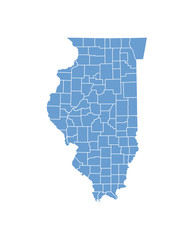 Illinois map in vector
