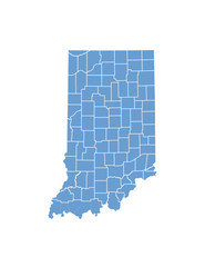 Indiana state map in vector