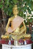 hermit image, Wat Suwannawat, Kantarawichai, Mahasarakam poster