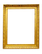 isolated  Vintage gold picture frame
