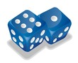 two blue vector dice - 23211218