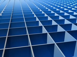 Blue square line pattern background
