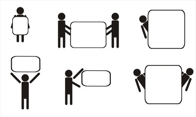 Schematic icons set people.