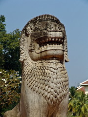 Cambodia, Siem Reap - town square statue nb.2