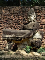 Cambodia, Siem Reap - town square statue nb.4