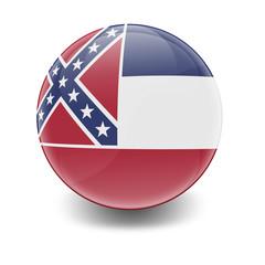 Esfera brillante con bandera Mississippi