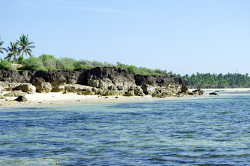 Philippines, Bantayan - View on rocky beach nb.1