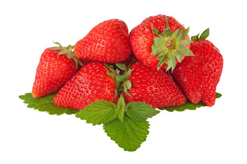beautiful strawberry with hand made clipping path