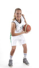 Attractive female basketball player