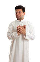 Worried stressed sad arab middle eastern man