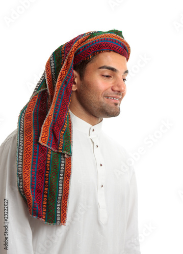 Smiling young arab man