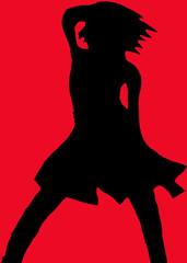 Silhouette von Tänzerin