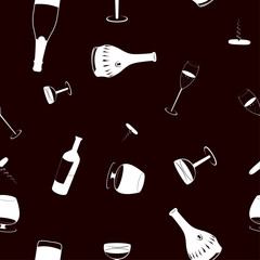 seamless drinks background