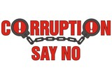 sign corruption say no poster