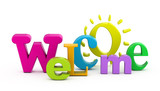 Fototapety Welcome word.