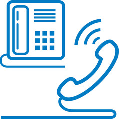 Vector telephone and phone receiver illustration