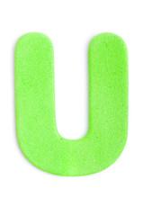 Foam letter U