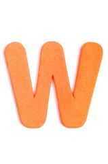 Foam letter W