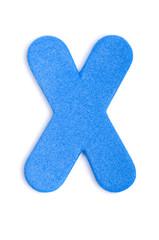 Foam letter X