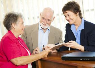 Senior Financial Advice - Sign Here