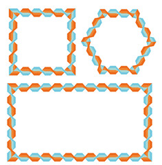 Bright frames with geometric pattern
