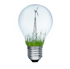 Light bulb and wind mill generator