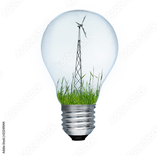 Light bulb and wind mill generator
