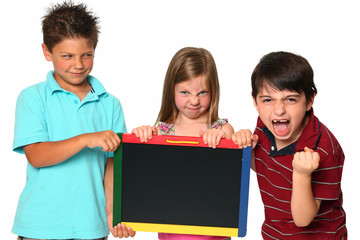 Angry Kids with Chalkboard