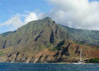 Beautiful landscape of Na Pali Coastline, Kauai, Hawaii