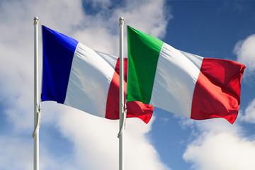 Bandiera italiana e francese