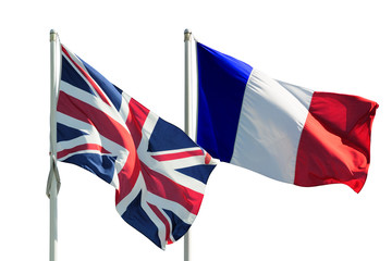 Bandiera inglese e francese