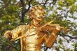 Statue of Johann Strauss  in Vienna