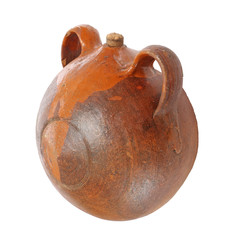 A botijo: a jug typical spanish made of ceramic (isolated)