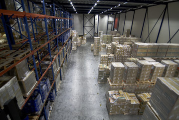 Warehouse overview cargo logistics