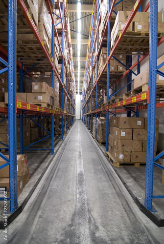 Logistics warehouse overview