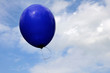 Blue balloon in the blue sky